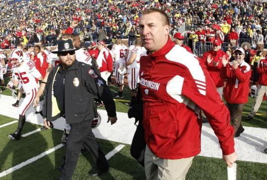 Bret Bielema makes Wisconsin's news for the Badgers.