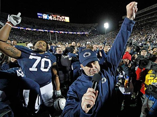 Bill O'Brien and the Nittany Lions were the biggest Big Ten story of 2012.