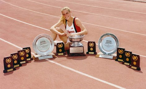 Suzy Favor Hamilton, from her Badger days.