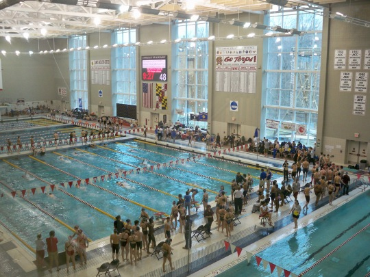 Our pilgrimage to the University of Maryland natatorium will just have to wait.